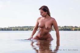 Cindy naked in the water
