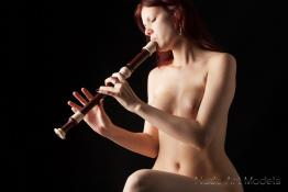 Lily with an alto flute