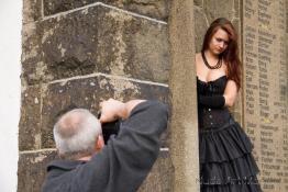 Making of Gothic Erotic outdoor with Ewelina