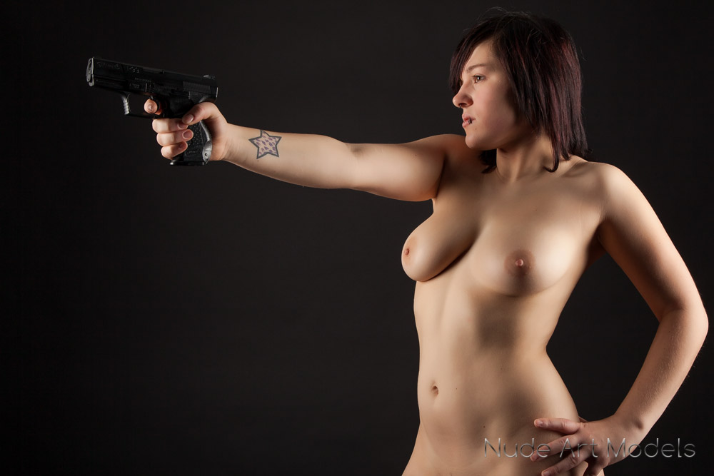 Sorry, nude girl with a gun that would
